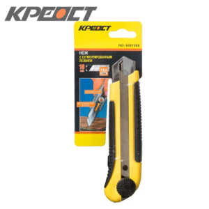 Нож (выдвижное лезвие) желто-черный 25MM