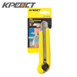 Нож (выдвижное лезвие) желтый 25MM